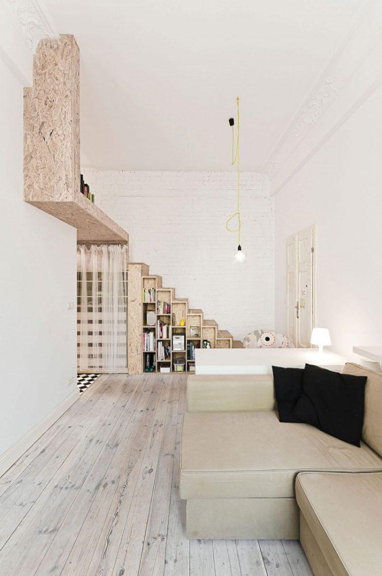 Grundriss einer kleinen Wohnung von 50 qm